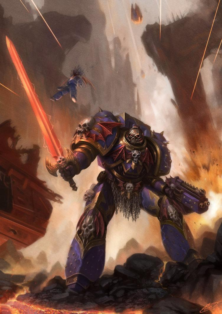 Арт Warhammer 40K Chaos Night Lords