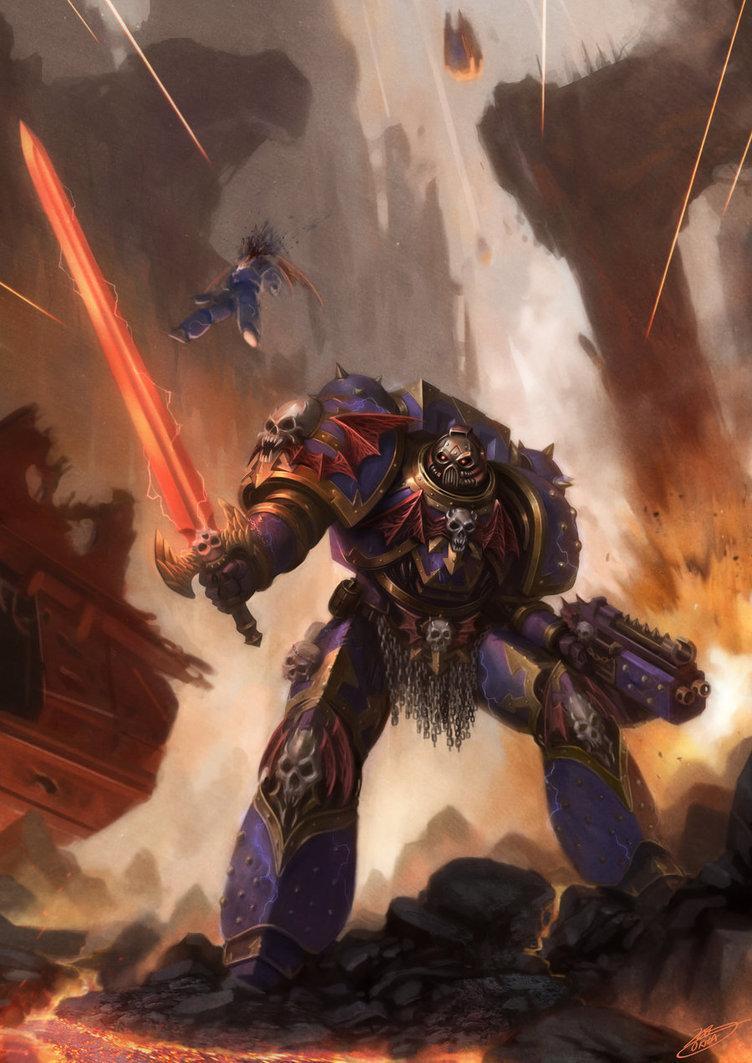 Арт Warhammer 40K Chaos Night Lords