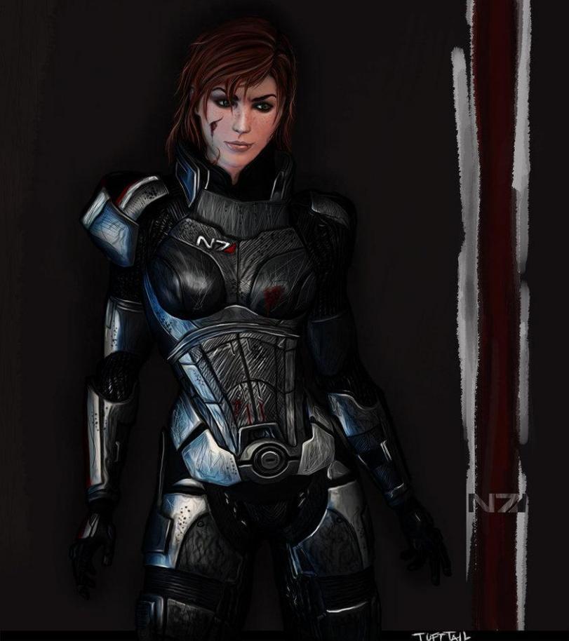 Mass Effect FemShep Арт