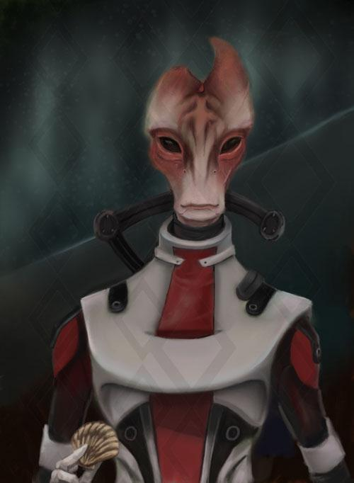 Арт Mass Effect Mordin Solus Salarian