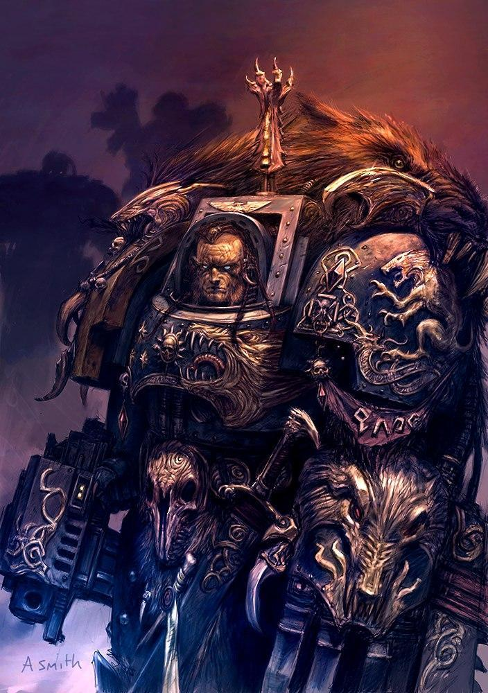 Space Wolves Warhammer космические волки Космодесант Мрачные картинки арт