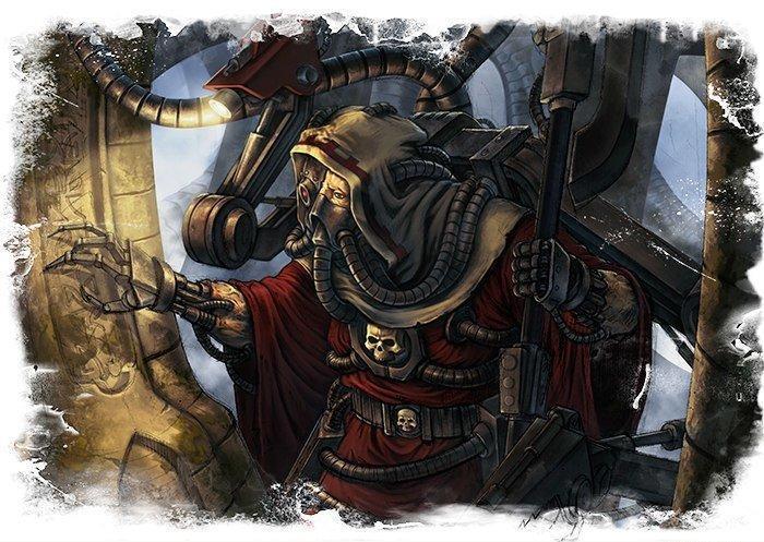 арт Красивые картинки адептус механикус Warhammer