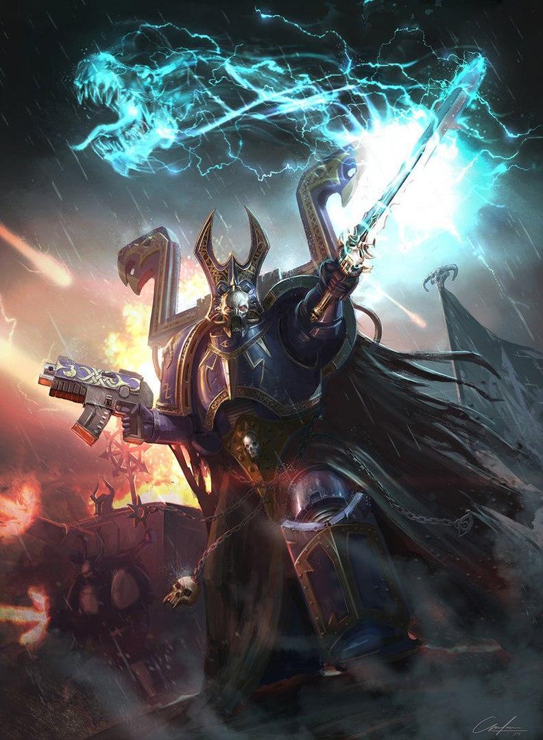 zarathur Tzeentch High Sorcerer Warhammer пафос хаос Мрачные картинки