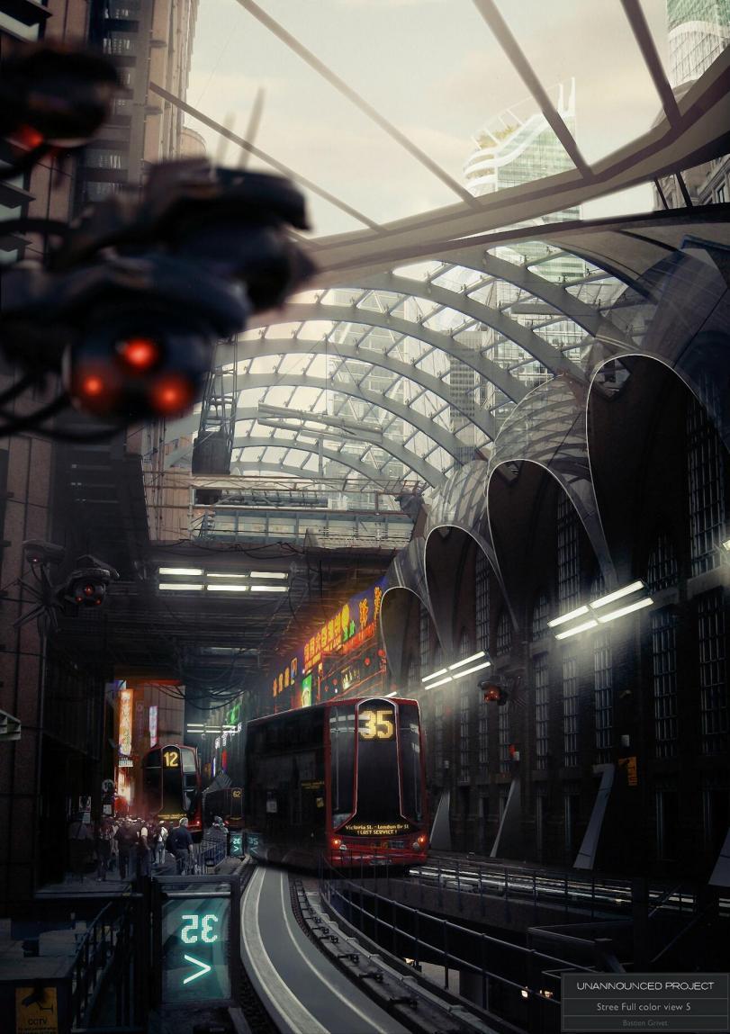 Арт Красивые картинки Scifi город будущего песочница