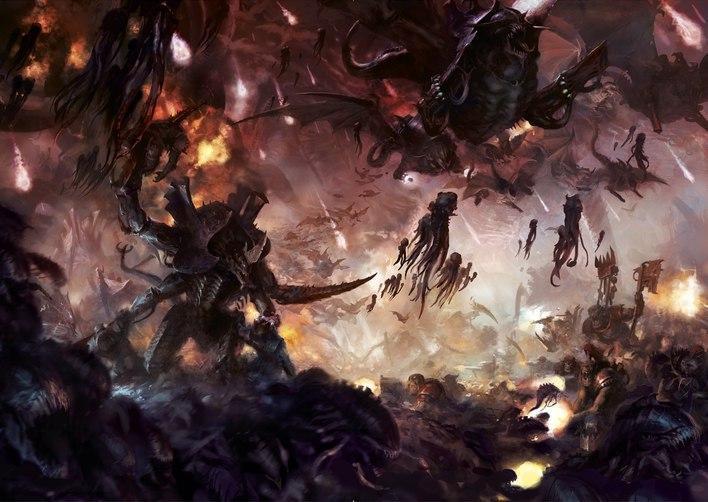 Тираниды арт Красивые картинки Мрачные картинки пафос