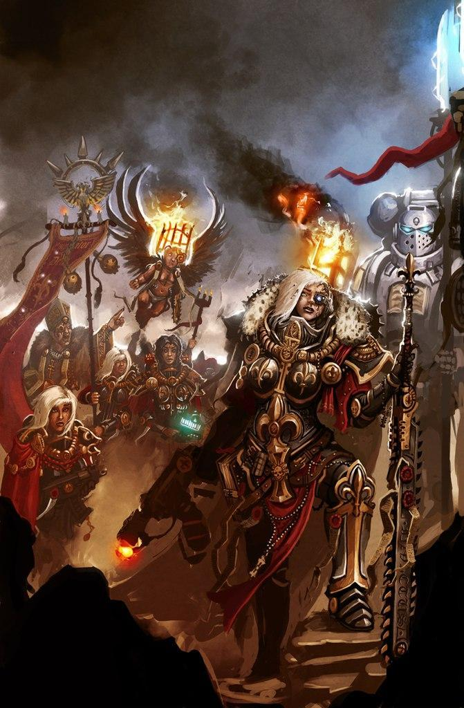 Сёстры битвы арт Мрачные картинки вархаммер