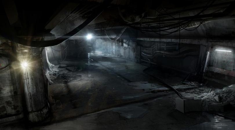 Арт Мрачные картинки интерьер мрачный тёмный коридор песочница