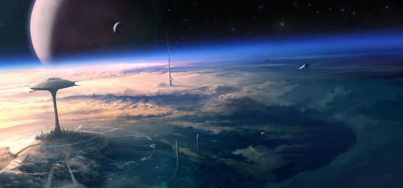 Арт Красивые картинки Scifi кликабельно Космос
