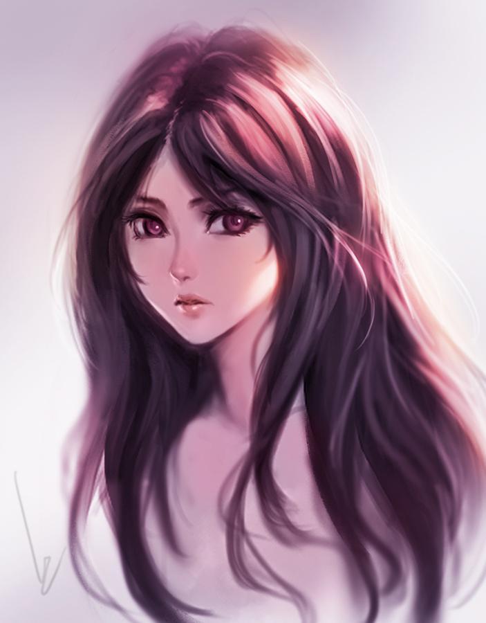 Арт Красивые картинки Девушка рисунок