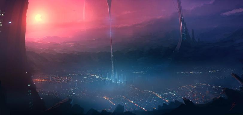 Арт Красивые картинки Scifi город будущего