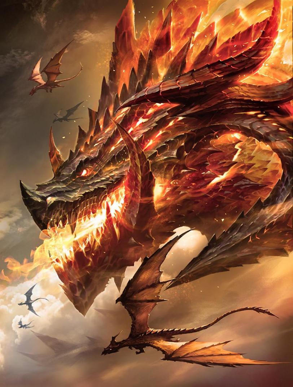 Арт Фэнтези дракон Красивые картинки