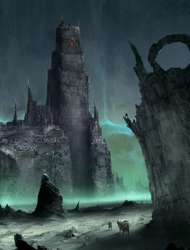 Арт Мрачные картинки Фэнтези башня