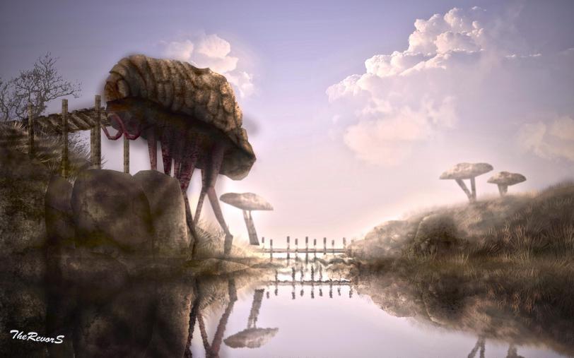 Арт Фэнтези The Elder Scrolls Morrowind силт страйдер