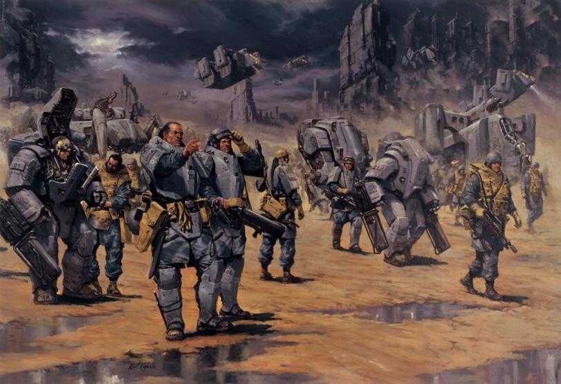 Scifi Арт Красивые картинки солдаты
