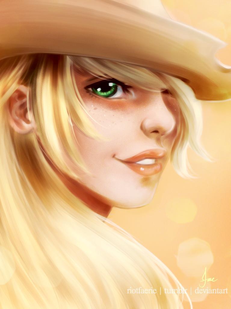 Арт Красивые картинки My Little Pony Applejack хуманизация