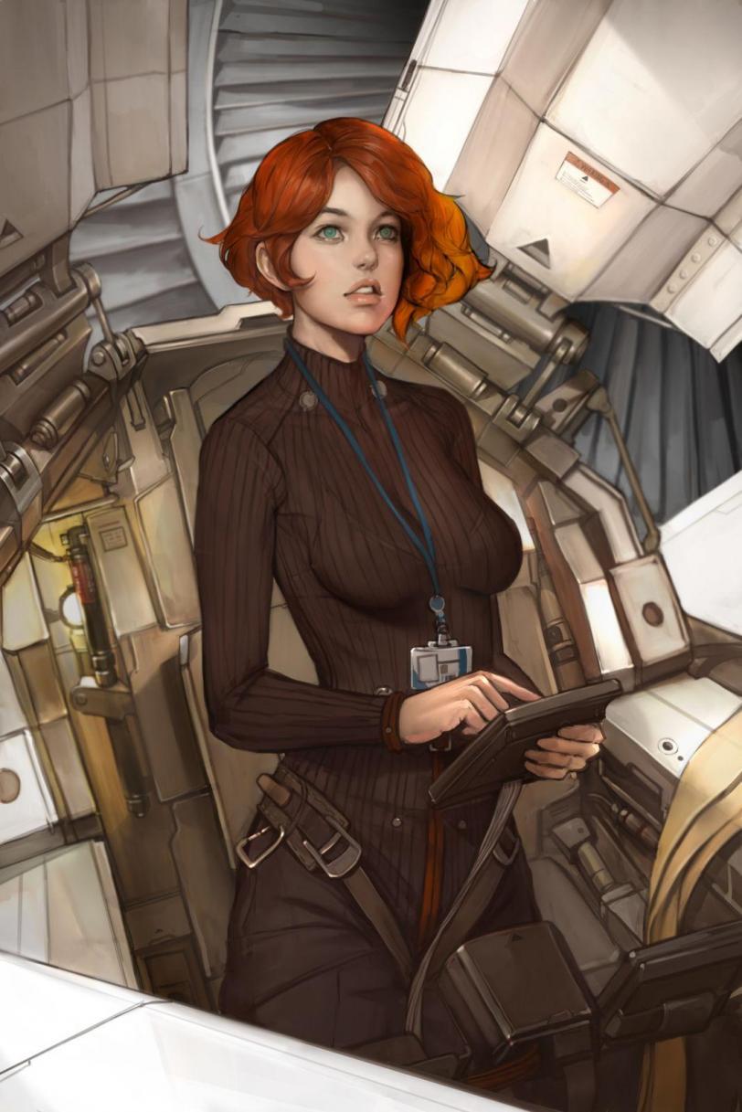 Арт Красивые картинки Scifi Девушка рыжая