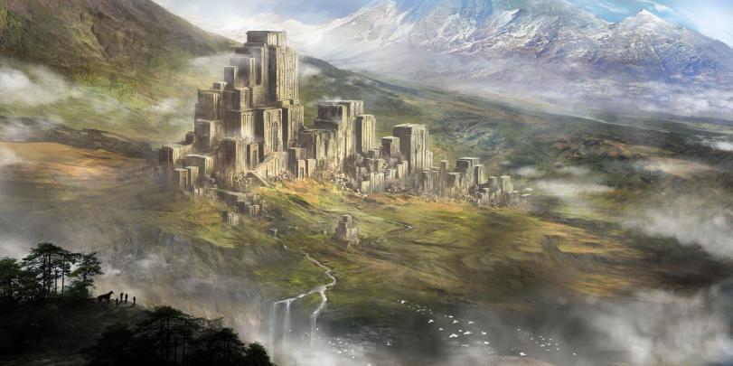 Арт Красивые картинки Фэнтези замок
