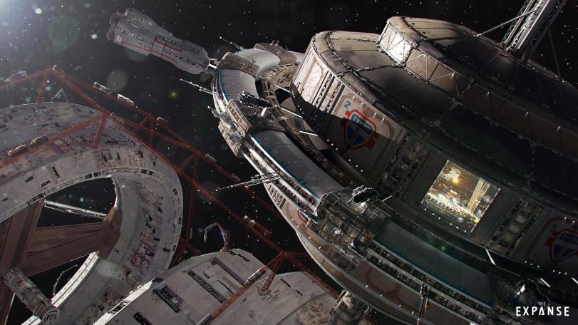 Арт Красивые картинки Scifi Tim Warnock Expanse Космос