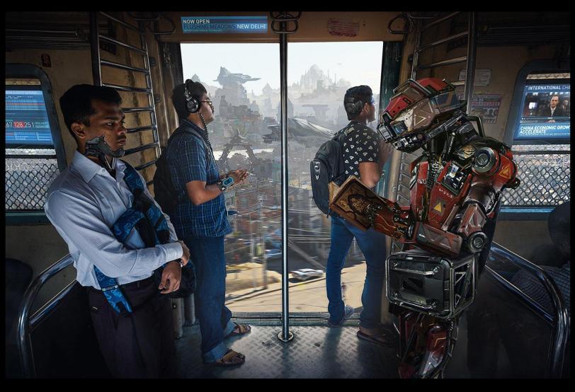 Арт Красивые картинки Scifi Martin GAO Cyberpunk Киберпанк