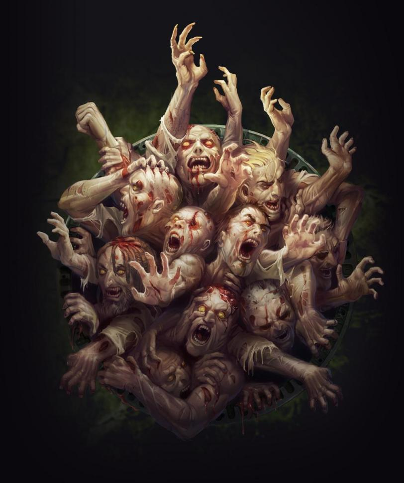 Арт Мрачные картинки зомби