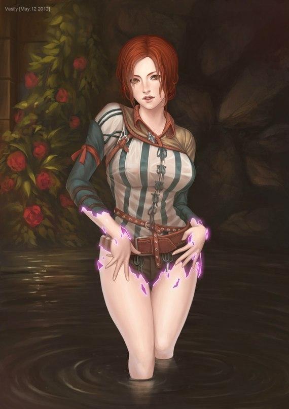 Игровой арт The Witcher Трисс Меригольд