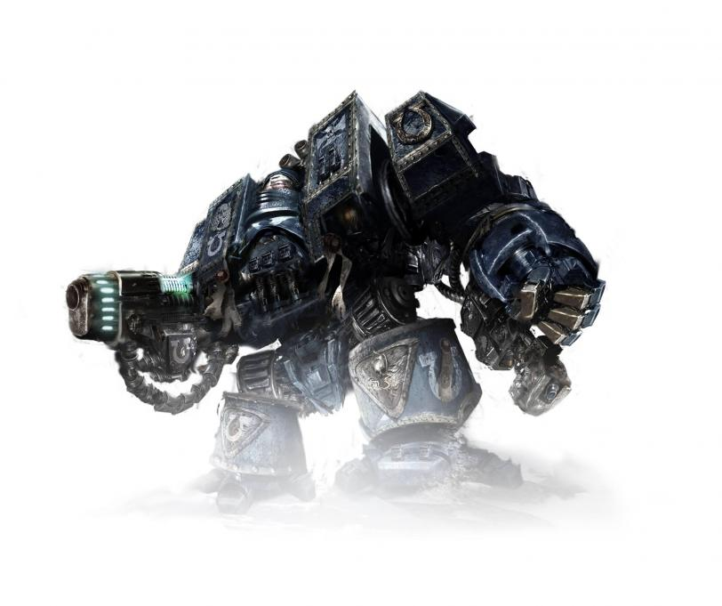 Арт Warhammer 40K дредноут Ultramarines hires