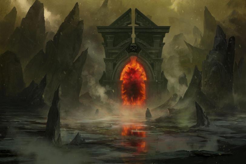 Арт Мрачные картинки Фэнтези врата
