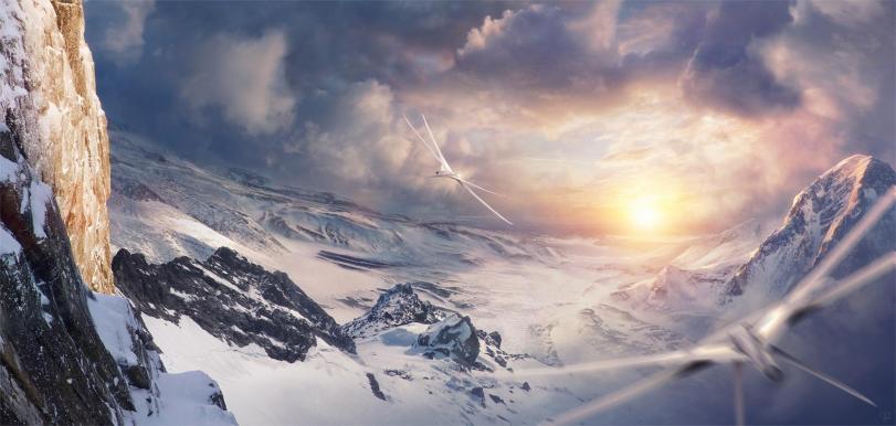 Арт Красивые картинки горы Scifi