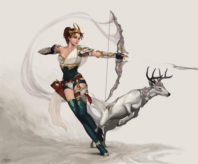 Арт Красивые картинки Фэнтези охотница