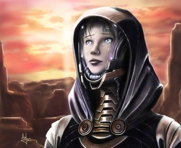 Игровой арт Mass Effect Tali концептарт