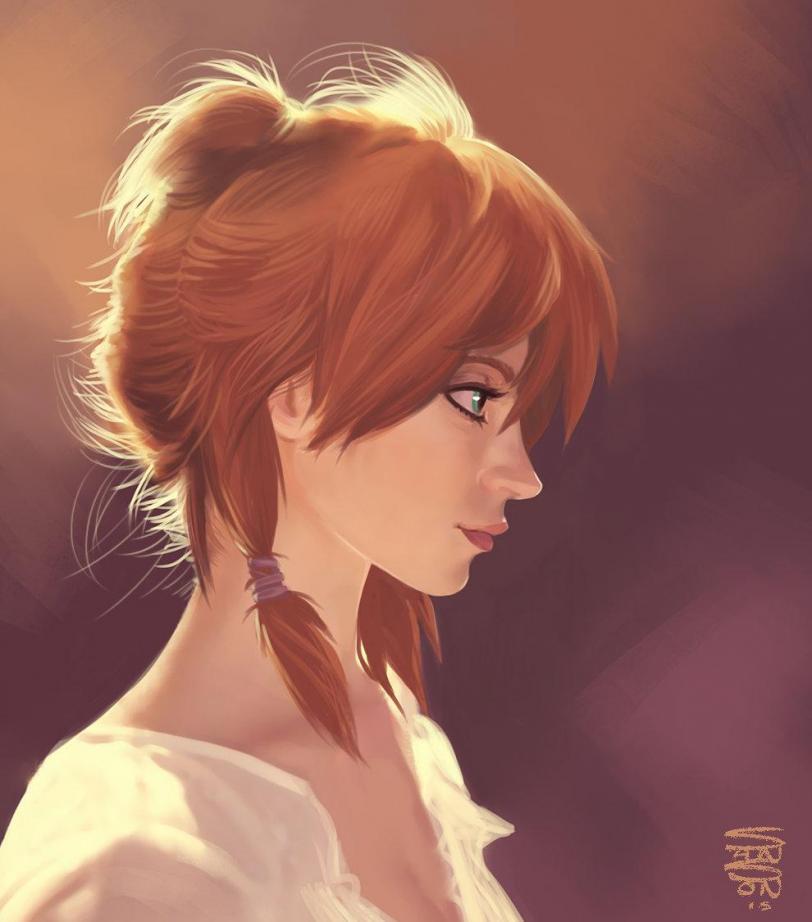 Арт Красивые картинки Девушка рыжая