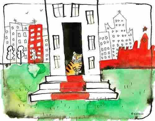 чтиво Леонид Каганов про тигренка черный юмор